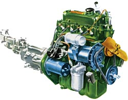 BMC A-Series Engine Drawing